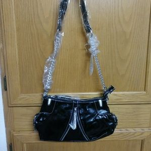 Black and silver purse